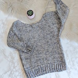 UO Staring at Stars 3/4 Sleeve Chunky Knit Sweater